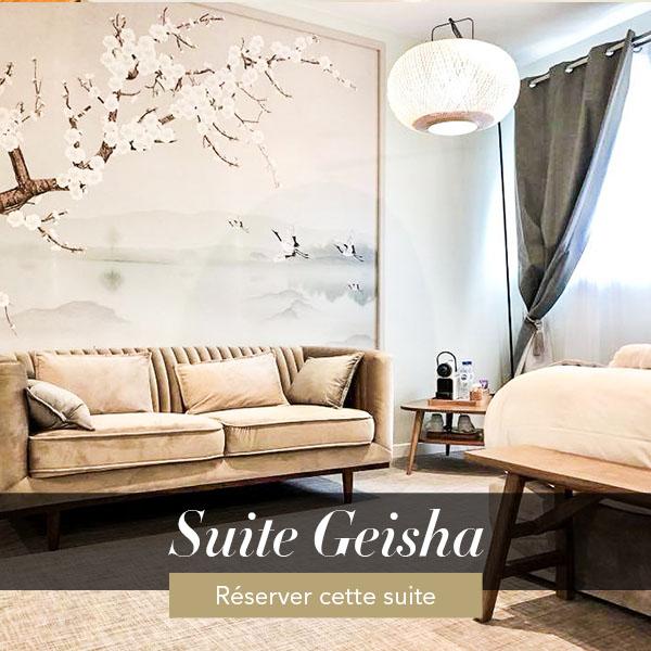 Suite Geisha, weekend amoureux avec jacuzzi